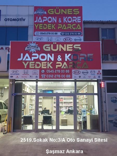 Japon kore yedek parça şaşmaz güneş japon